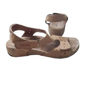 TAOS Rita Tan comfort Sandal Size 37Eur 6-6.5 US